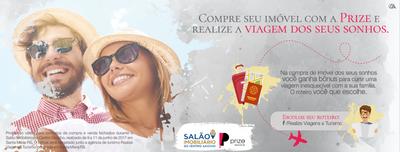 SALÃO IMOBILIÁRIO: Adquira seu imóvel Prize e realize a viagem dos seus sonhos