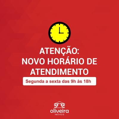 Novo horário de atendimento na Oliveira Imóveis
