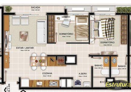 Apartamento com 2 Dormitórios à venda, 73 m² por R$ 392.321,00
