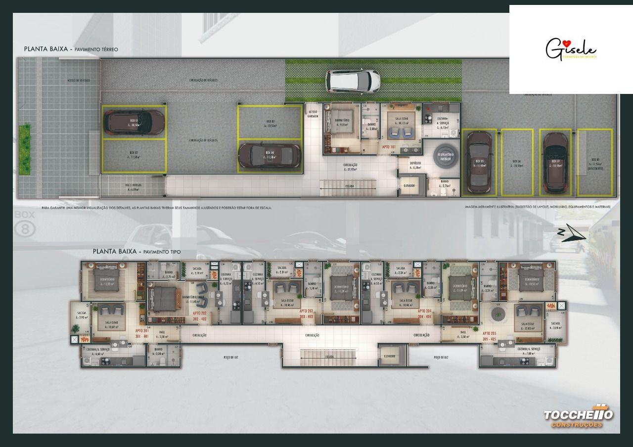 Apartamento com 1 Dormitórios à venda, 46 m² por R$ 208.110,00