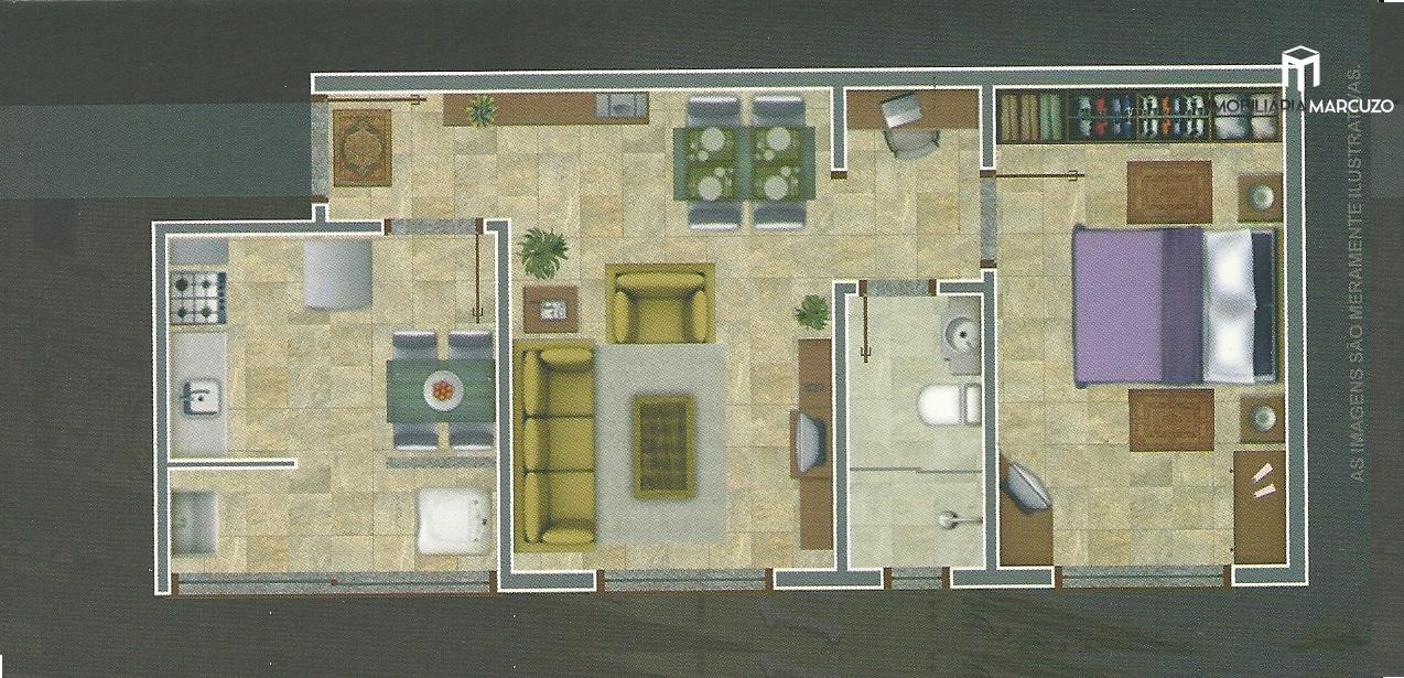 Apartamento com 1 Dormitórios à venda, 49 m² por R$ 130.000,00