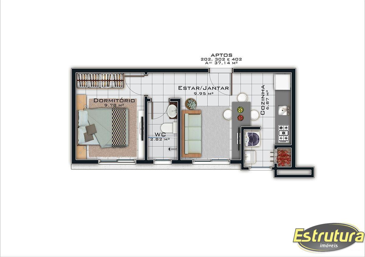 Cobertura com 3 Dormitórios à venda, 161 m² por R$ 726.714,00