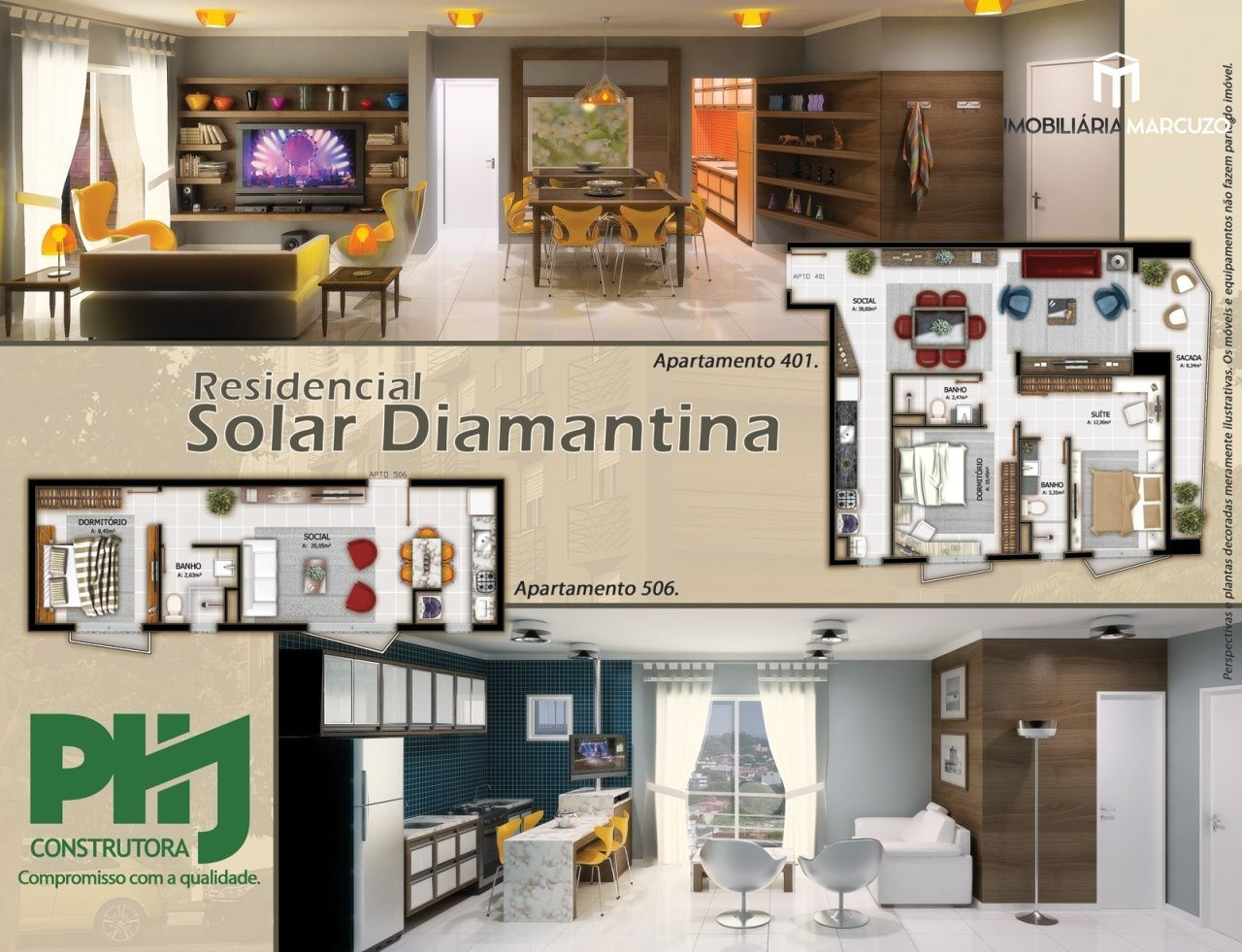 Apartamento com 1 Dormitórios à venda, 36 m² por R$ 190.000,00