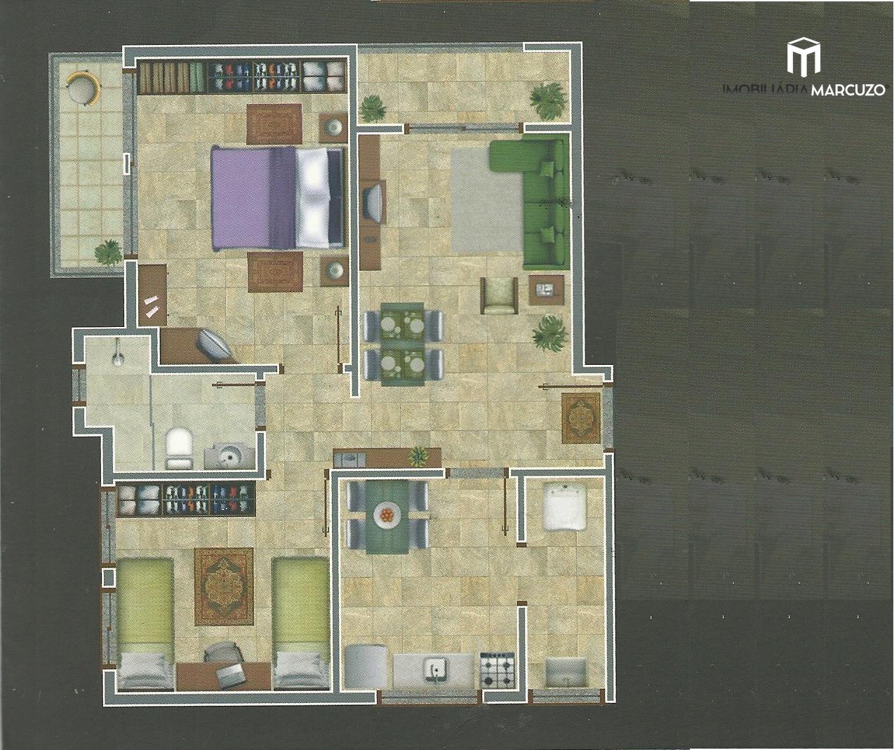 Apartamento com 2 Dormitórios à venda, 64 m² por R$ 220.000,00