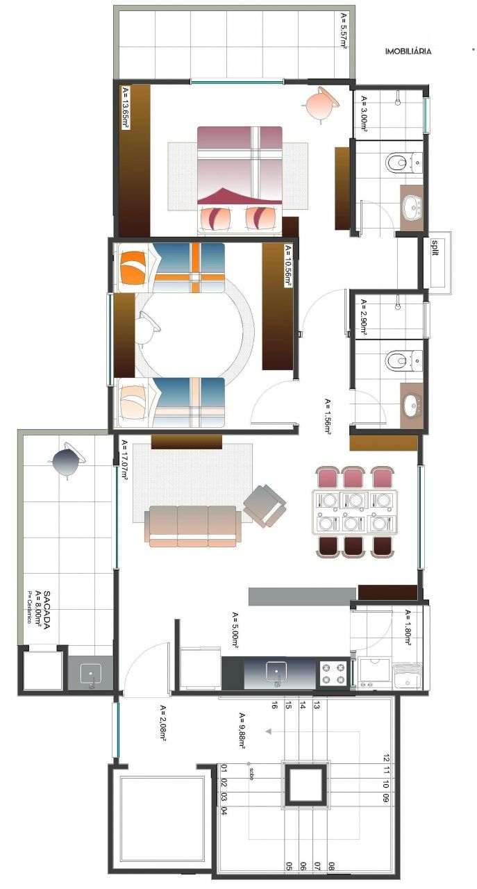 Apartamento com 2 Dormitórios à venda, 81 m² por R$ 320.000,00