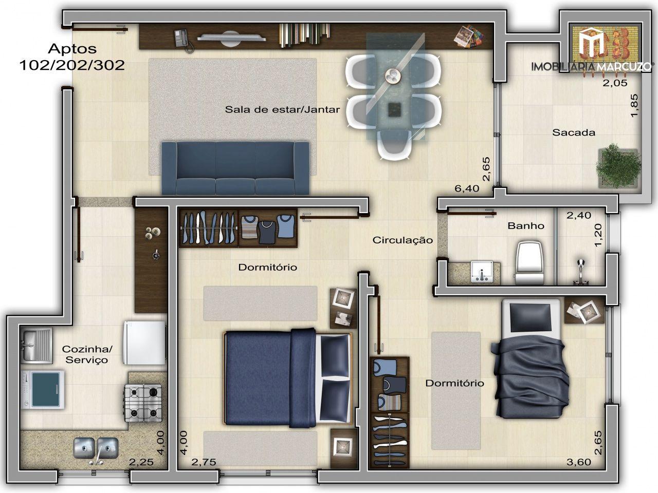 Apartamento com 2 Dormitórios à venda, 78 m² por R$ 165.000,00