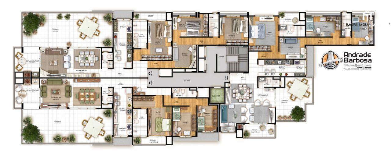 Apartamento com 2 Dormitórios à venda, 104 m² por R$ 331.000,00