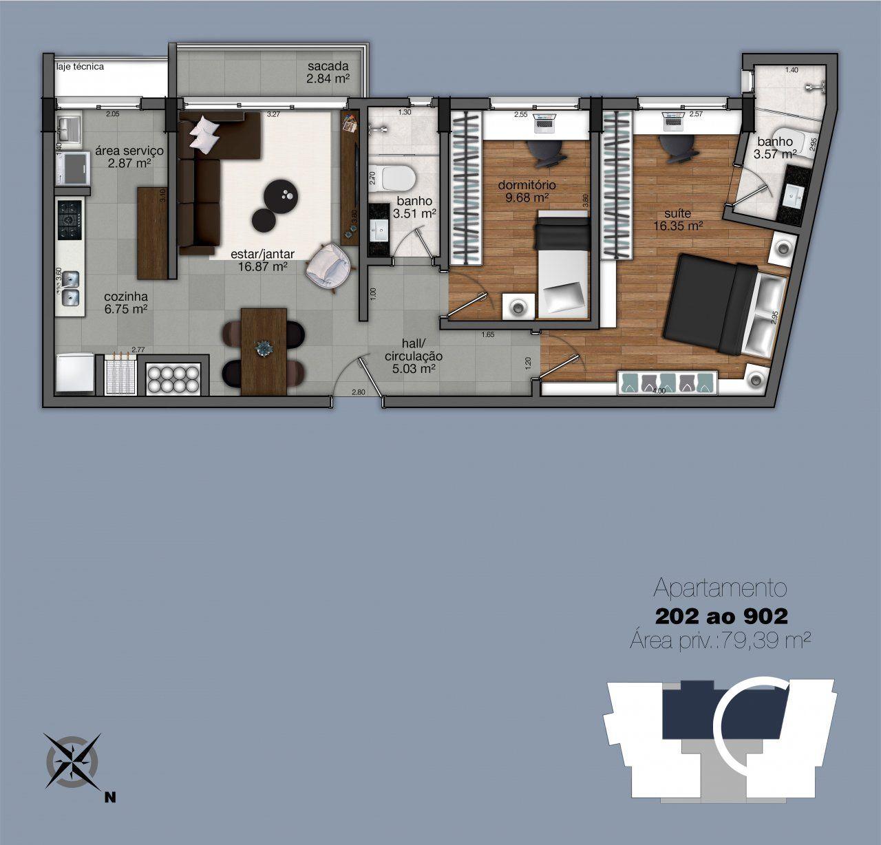 Apartamentos 202 - 902