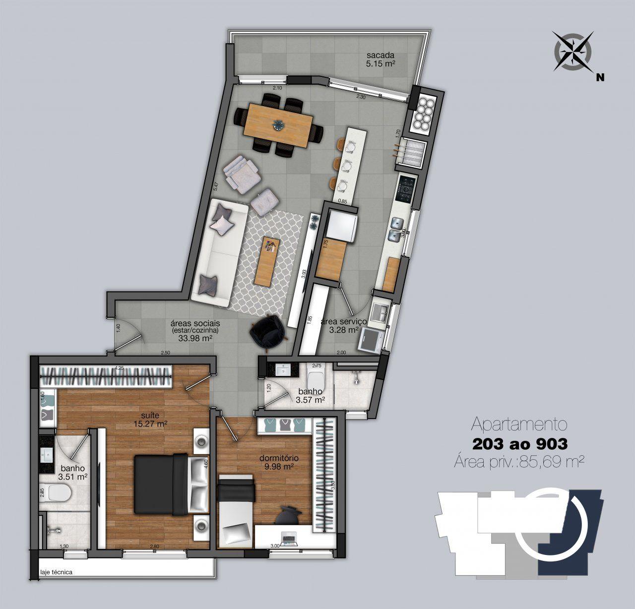 Apartamentos 203 - 903