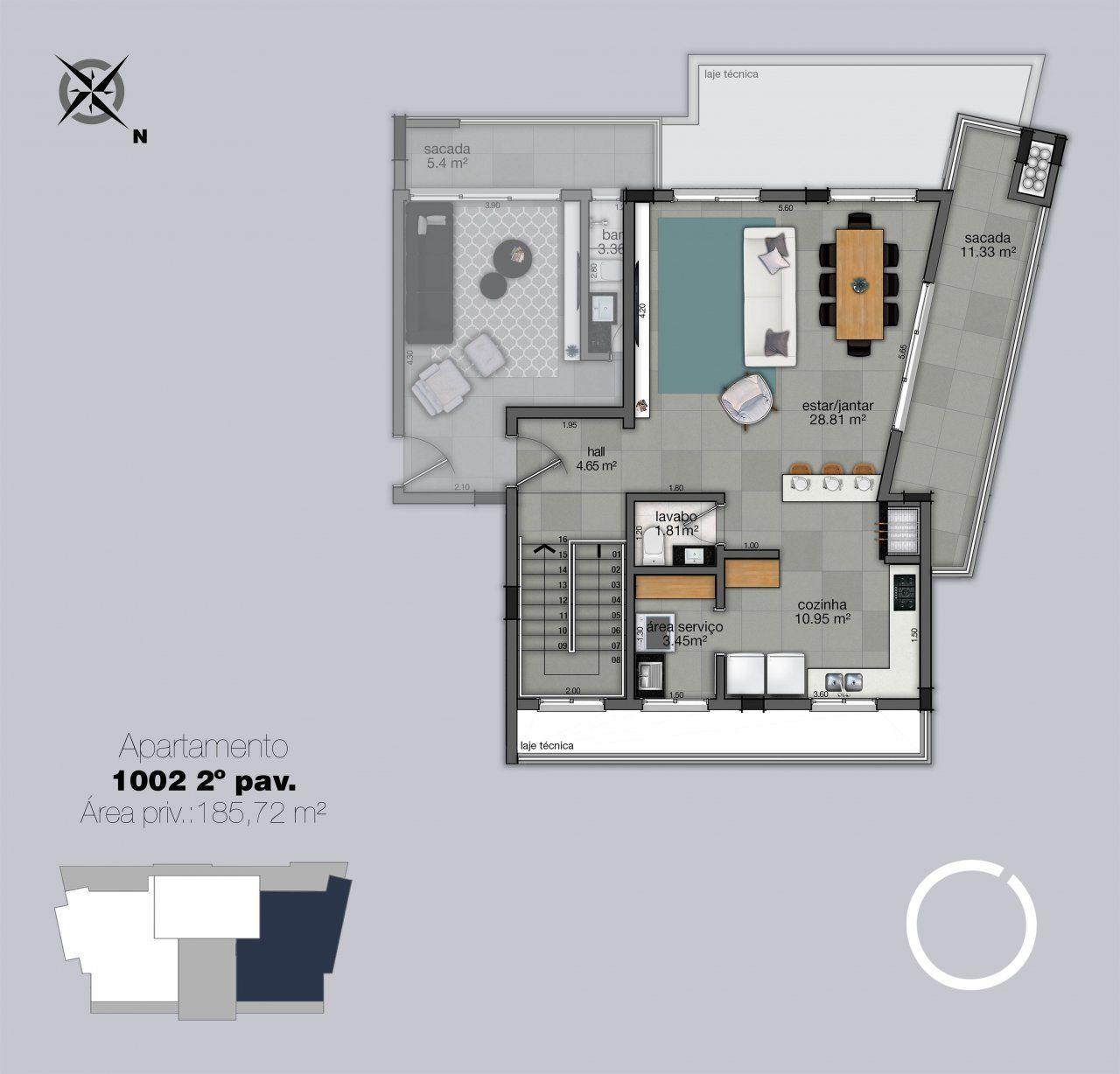 Cobertura 1002 - 2º pavimento