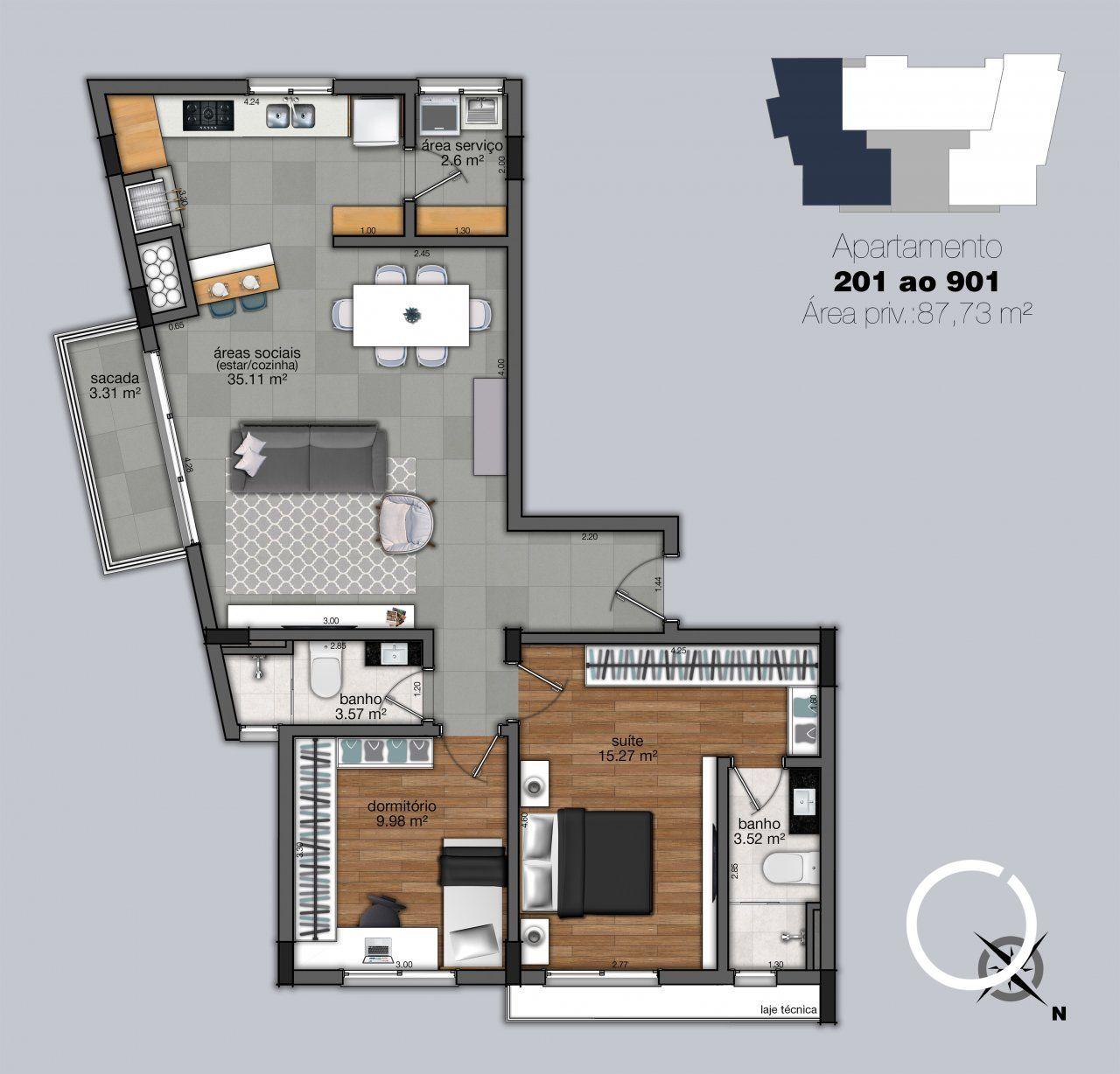 Apartamentos 201 - 901