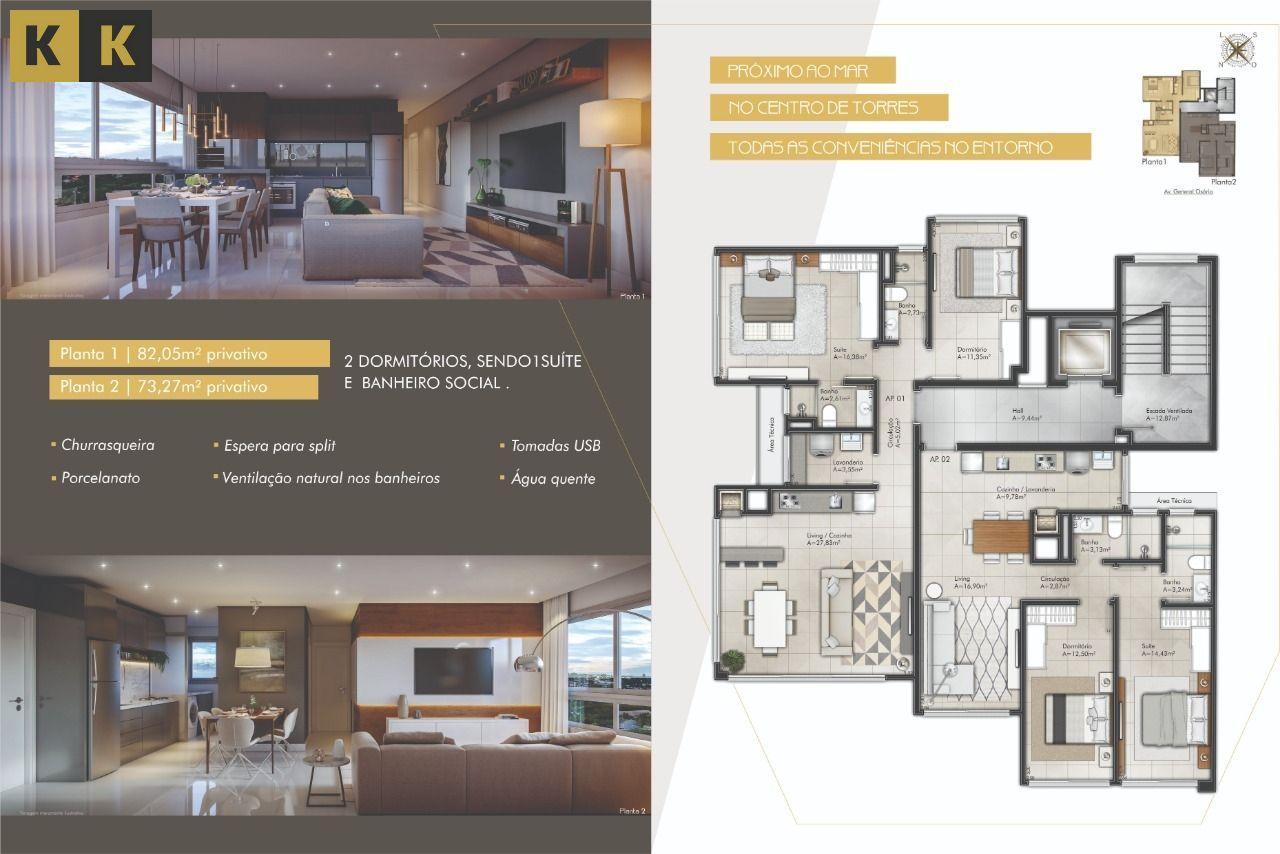 Apartamento com 2 Dormitórios à venda, 82 m² por R$ 555.000,00