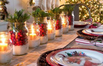 Natal à mesa.