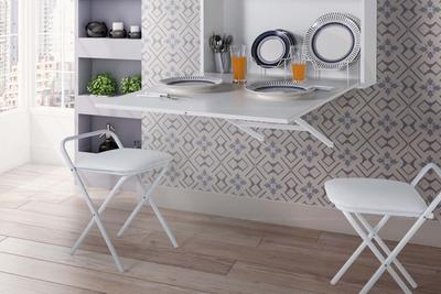 Quer mais espaço? Coloque uma mesa dobrável na sua cozinha