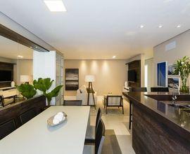 Sala de estar e jantar integrados