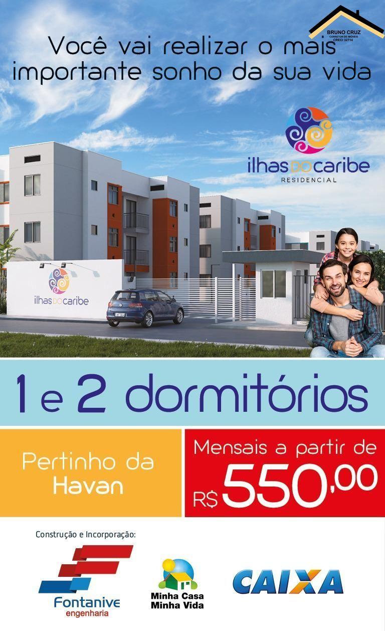 Apartamento com 2 Dormitórios à venda, 45 m² por R$ 135.000,00