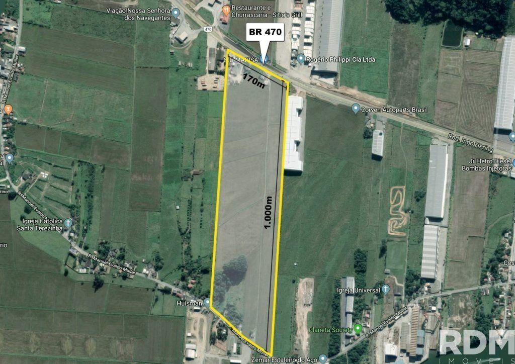 Terreno comercial à venda  no Machados - Navegantes, SC. Imóveis