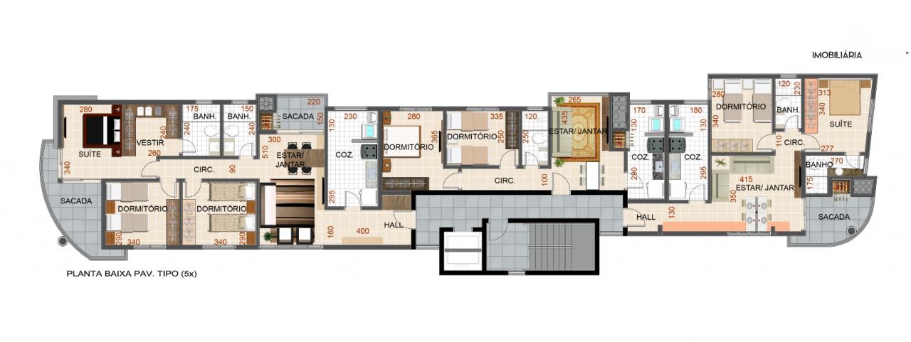 Apartamento com 3 Dormitórios à venda, 121 m² por R$ 664.000,00