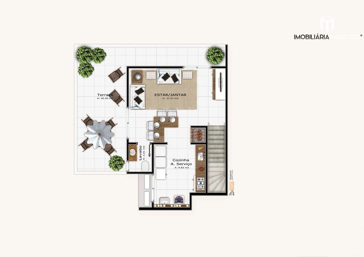 Apartamento com 3 Dormitórios à venda, 190 m² por R$ 1.034.126,00