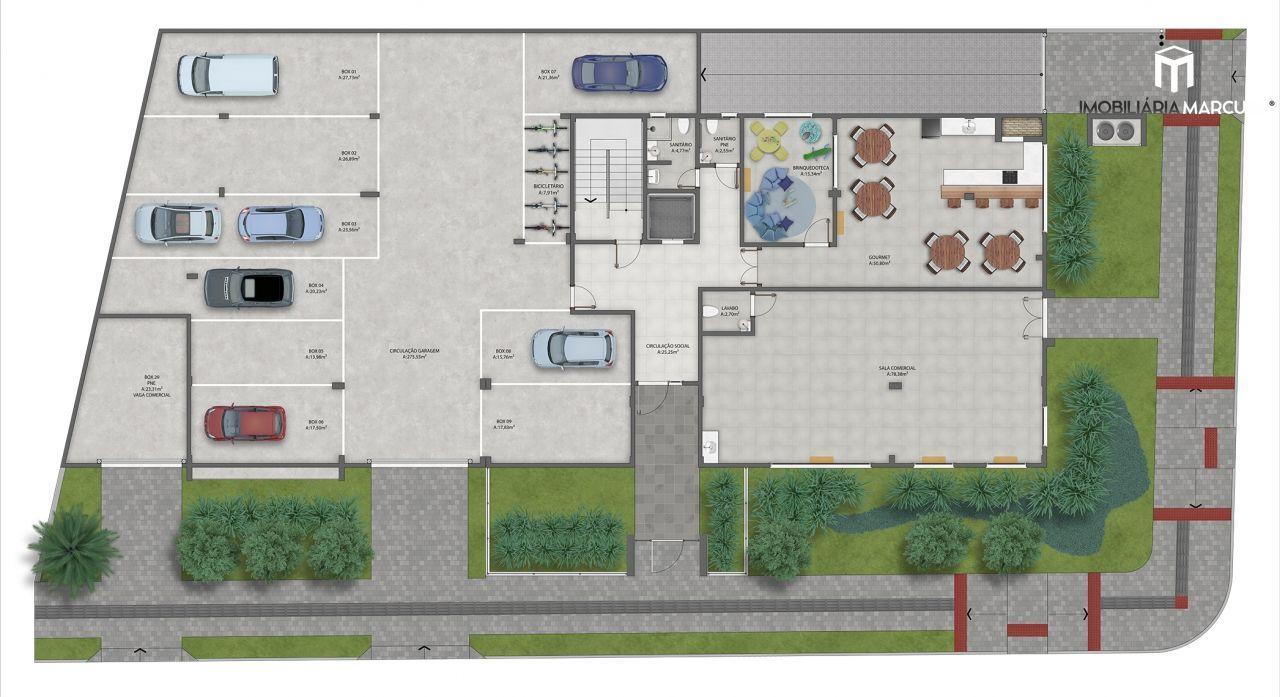 Apartamento com 3 Dormitórios à venda, 98 m² por R$ 427.831,00