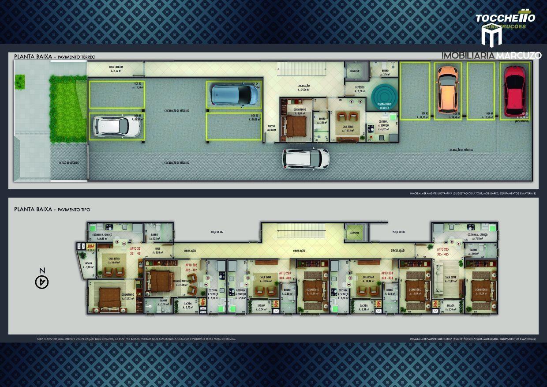 Apartamento com 1 Dormitórios à venda, 44 m² por R$ 164.000,00