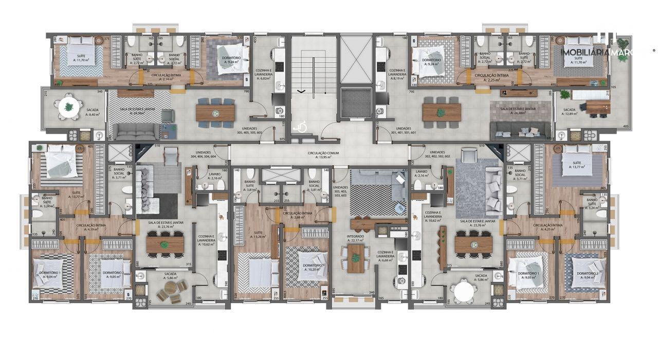 Apartamento com 2 Dormitórios à venda, 80 m² por R$ 331.581,00