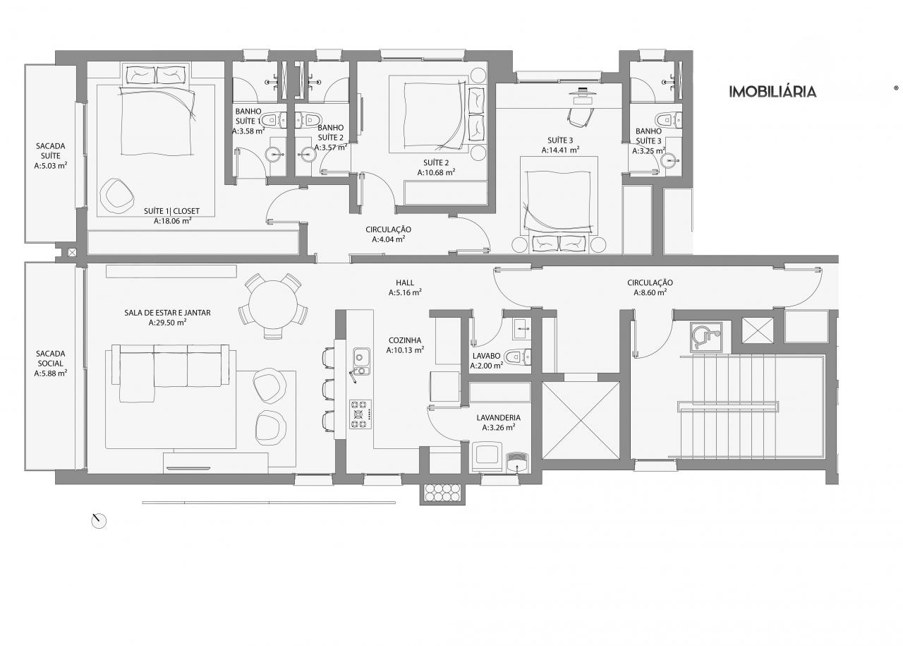 Casa com 3 Dormitórios à venda, 140 m² por R$ 880.625,00