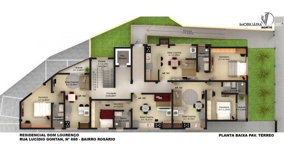 Apartamento com 1 Dormitórios à venda, 47 m² por R$ 185.000,00