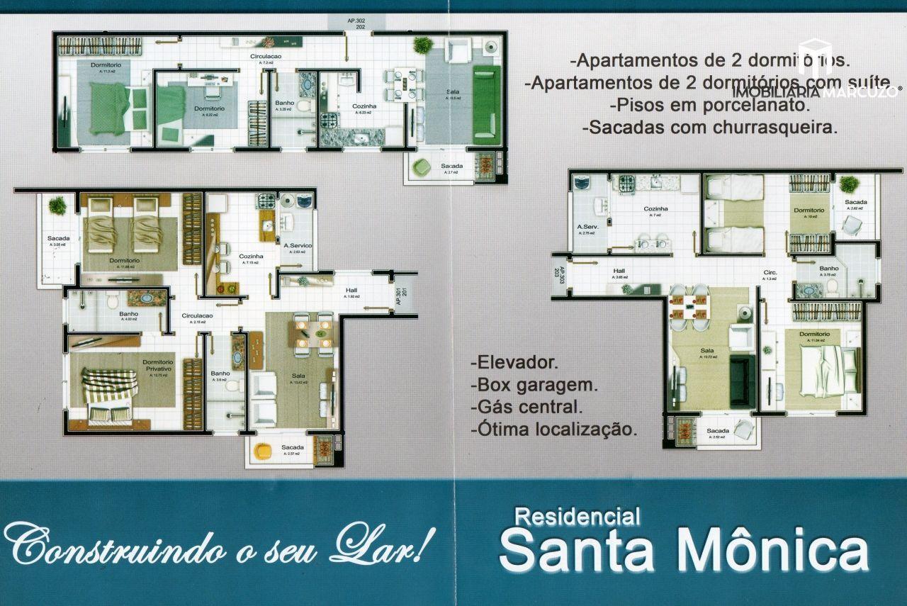 Apartamento com 2 Dormitórios à venda, 59 m² por R$ 256.000,00