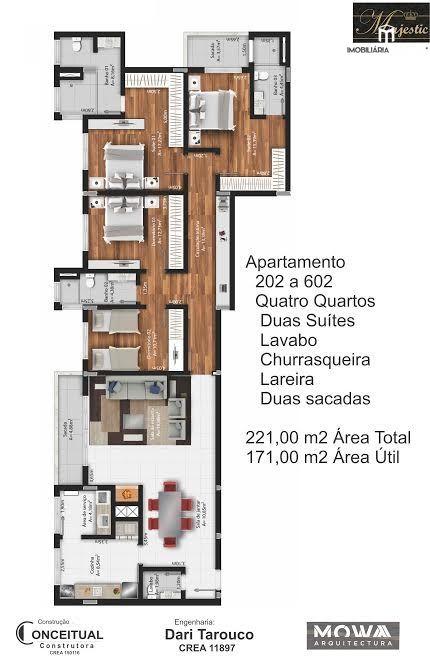 Apartamento com 3 Dormitórios à venda, 143 m² por R$ 790.000,00