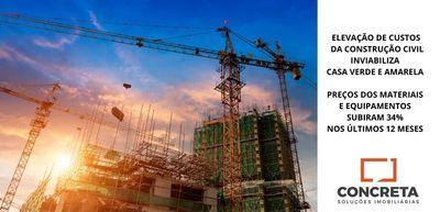 Elevação de custos de construção inviabiliza Casa Verde e Amarela