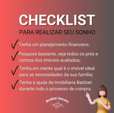 Check-list para realizar seu sonho da compra do imóvel