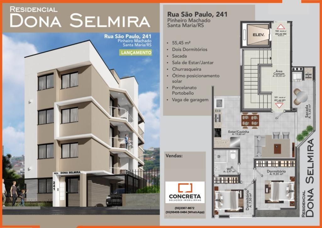 Apartamento à venda  no Pinheiro Machado - Santa Maria, RS. Imóveis